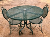 For sale iron tables and chair Lawrenceville, 30043