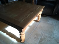 Rectangular brown wooden coffee table Repentigny, J6A