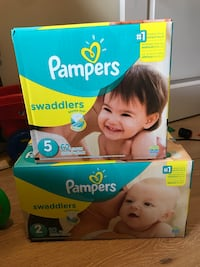 Pampers diaper size 2 & size 5 ($19 each) Burnaby, V5H 4W6