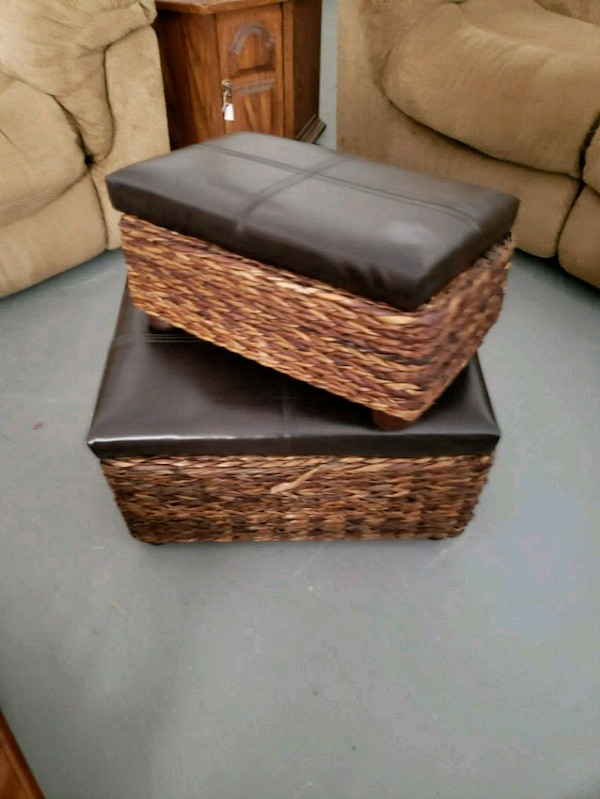 brown and black wicker basket