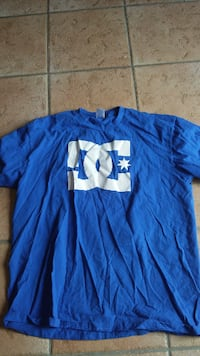 blue DC Shoe crew-neck t-shirt