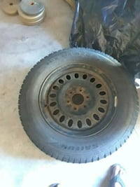 black bullet hole car wheel with tire Mississauga, L4Y 2K3