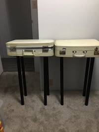 Antique luggage end tables