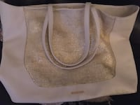 Like new beige and gold tote Macon, 31216