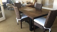 rectangular brown wooden table with six chairs dining set Oxnard, 93035