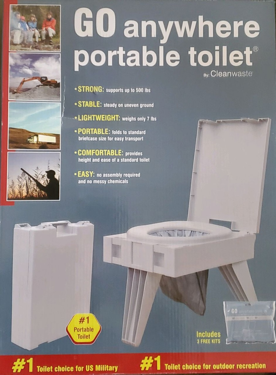Photo Go anywhere portable toilet