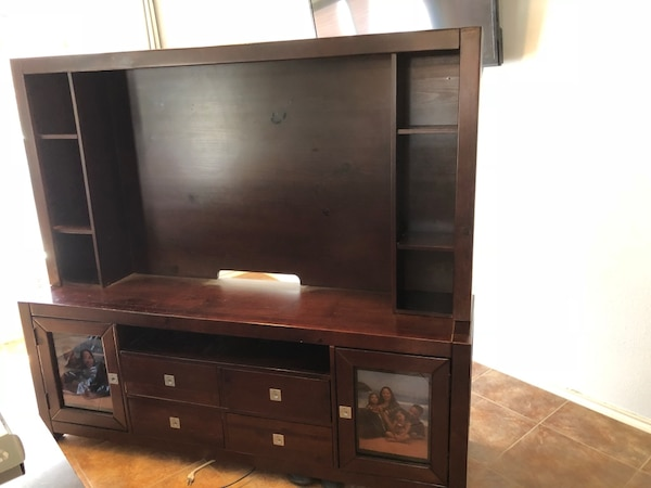 "Entertainment center fits 55"" TV"