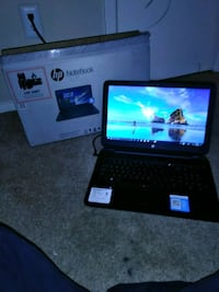 black HP laptop with box Lewisville, 75067