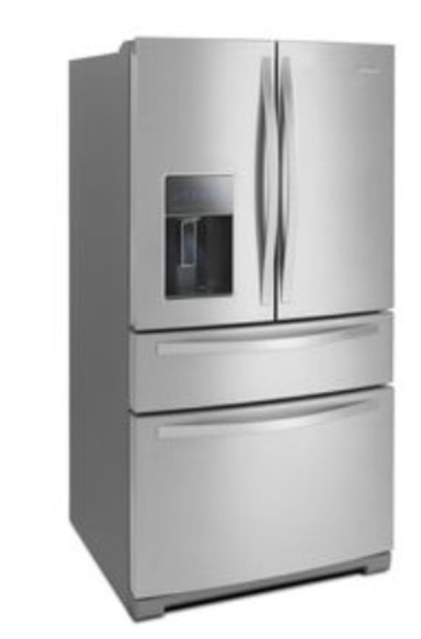 Used Whirlpool Gold 262 Cu Ft French Door Refrigerator With Single