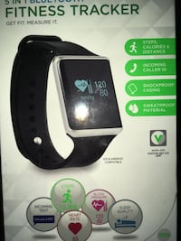 black and white smart watch Plano, 60545