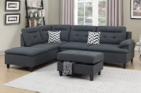 New Sectional W Storage Ottoman. Charcoal. Delivery/Assembly included