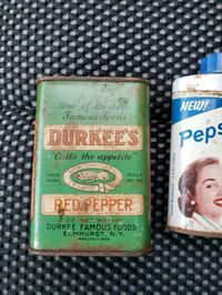 Old Pepsodent, and spice containers