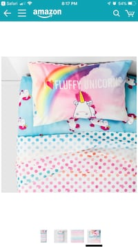 unicorn comforter and sheet set for twin bed