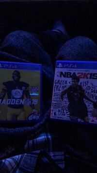 PS4 madden 19 & nba 2k19 Mississauga, L5N 8H3