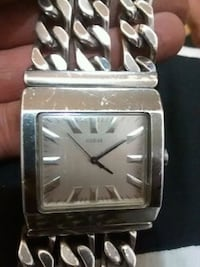 square silver-colored analog watch with link bracelet Winnipeg, R3E 0A2