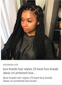 Womens Box Braid You Provide Your Own Hair 5 Packs Of X