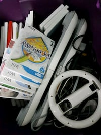 Box of Wii gadgets and games  Ottawa