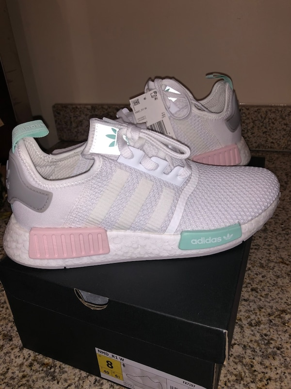 Sold Nmd R1 Shoes Cloud White Grey Two Clear Mint In Penngrove