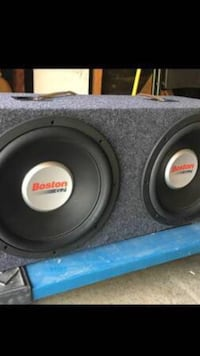 black and gray subwoofer speaker Anaheim, 92806