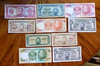Lot of 10 1930s-1970s Vintage Uruguayan Peso  Calgary, T2R 0S8