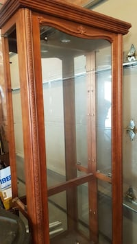 Solid cherry and glass display cabinet Barrie, L4M 7E7