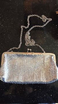 Silver ALDO clutch with chain , used once
