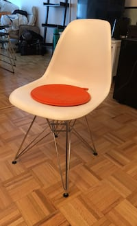 Molded plastic wire base chairs