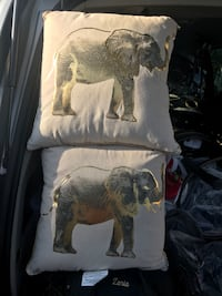 """Pillow With Gold Elephant 18"""" x 18"""""""