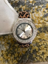 Brand new women's Quartz watch with animal print strap and diamanté encrusted face Las Vegas
