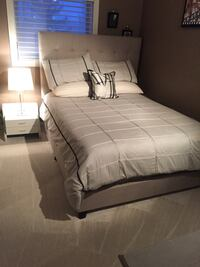 gray, white, and black comforter set Calgary, T3M 0Y3