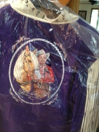 Purple man and horse graphic print top Belton, 64012