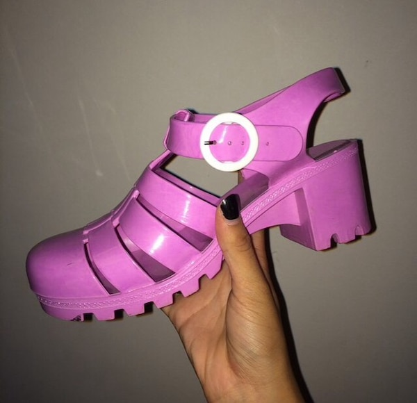 cdb7d99416d5 American Apparel Jelly Shoes In Pink Bubble Gum For