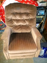 brown fabric padded sofa chair Pleasant Valley