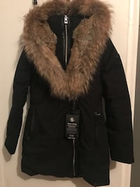 black and brown fur-lined parka jacket Toronto, M6M 4B2