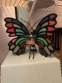 Partylite Metal Stained Glass Butterfly Votive Tealight Candle Holder Chesapeake, 23321