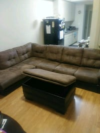brown suede sectional sofa with ottoman Portsmouth, 23704