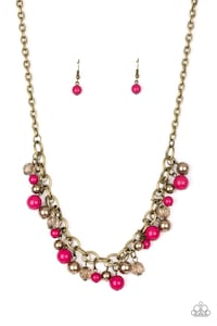 gold-colored necklace with red gemstones Lancaster, 17602