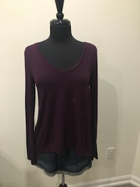 New purple high-low top size S