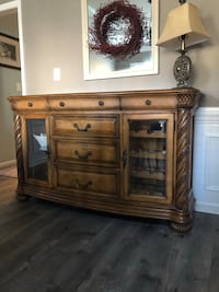 brown wooden cabinet with mirror Indian Trail, 28079
