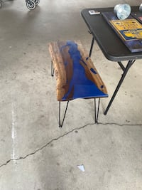 Live edge Epoxy River table