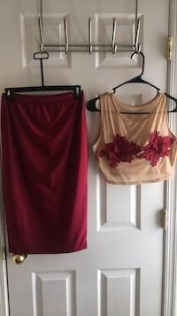 2pc skirt set L Upper Marlboro, 20774