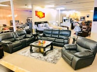 black leather living room set Houston, 77055