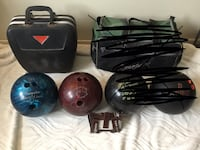 Bowling Balls & Wrist Support - See description for prices Mississauga, L4W 3P3