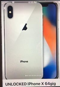 Silver iPhone X 64g priced for quick sale. North Vancouver