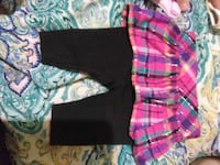 toddler girl's purple, pink, white, and green plaid skirt with pants Nacogdoches, 75964