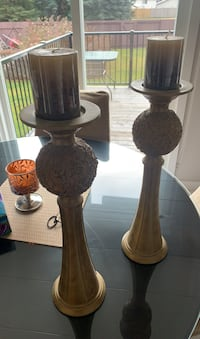 2 candle holders  Edmonton, T5X 3K3
