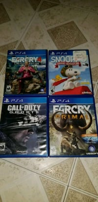 four assorted PS4 game cases Mission, 78573
