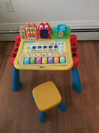 toddler's yellow and blue learning table Boston, 02126
