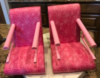2 American Girl Doll Pink Chair Booster Seats