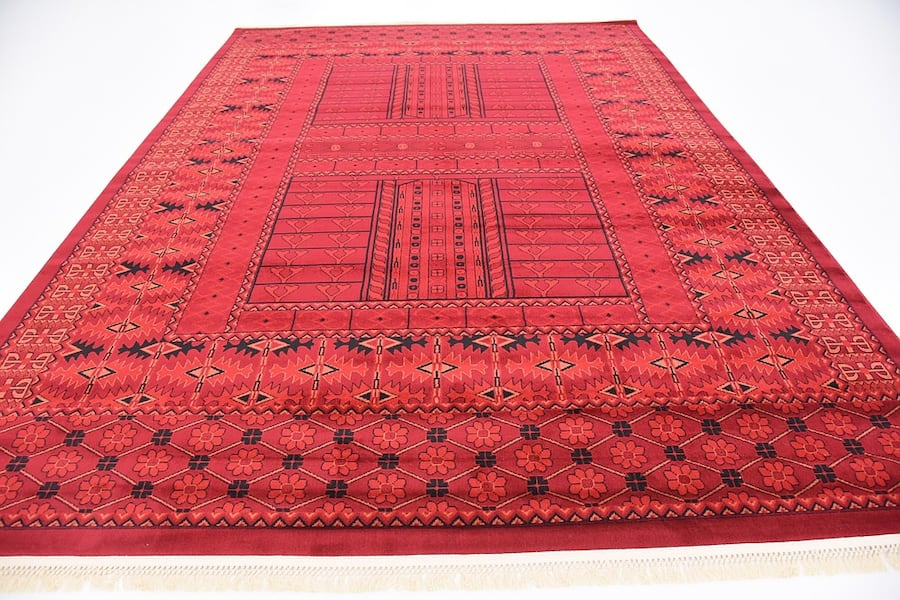 new Bokhara design area rug size 8x11 nice red carpet Persian style b42bfe6a-a78a-4398-9f8b-f4467ac8f228